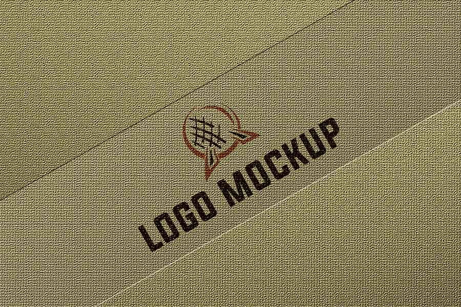 Realistic Logo mockup photo