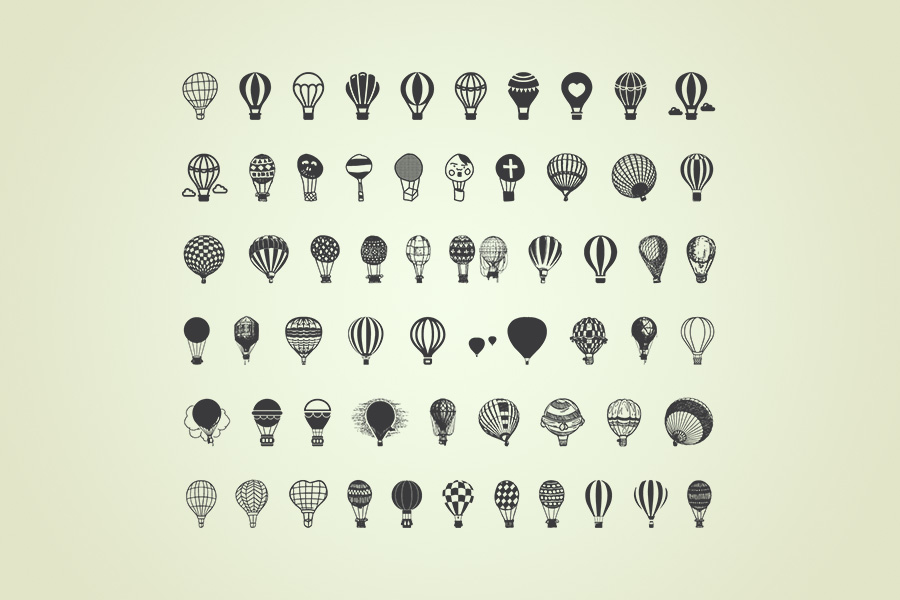 Air-Balloon-Icons