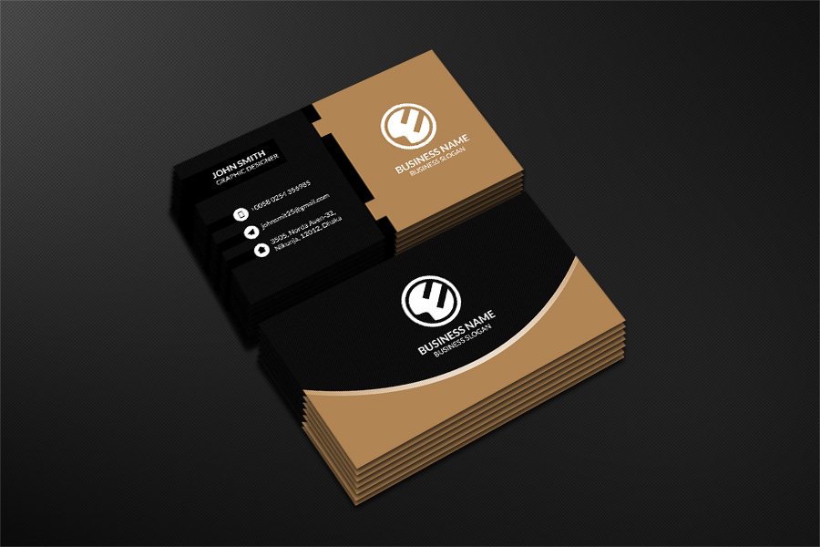 business card template photo