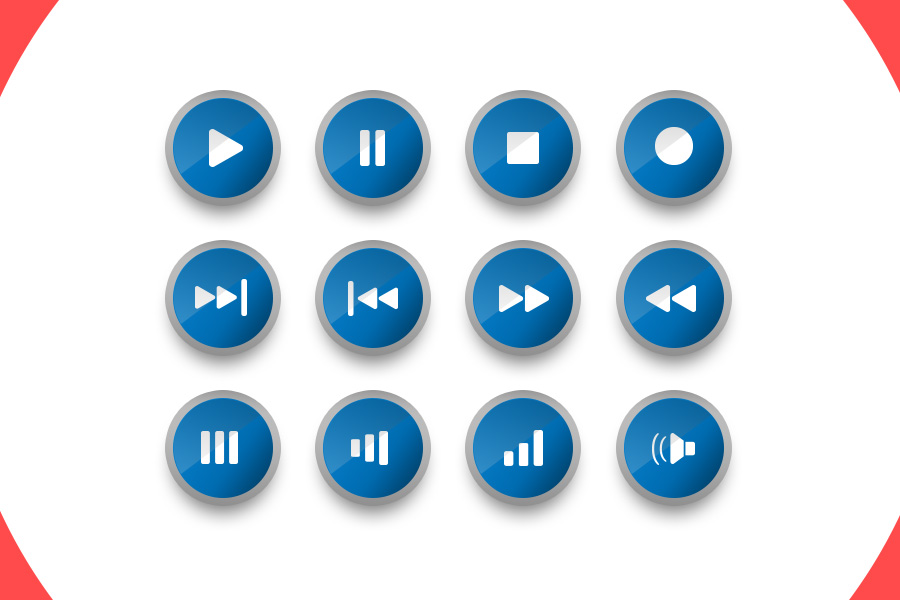 Music-Player-Buttons
