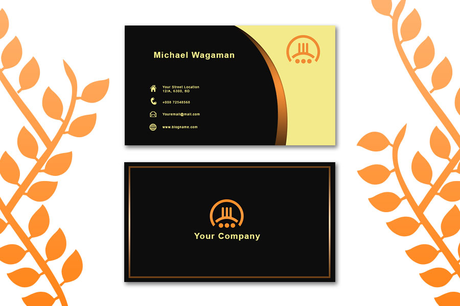 Golden-Business-Card-Template