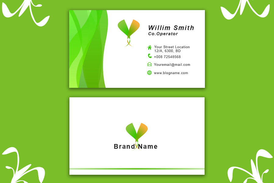Green-Business-Card-Template