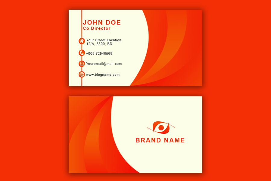 Orange-Business-Card-Template